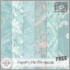 CAJOLINE-SCRAP: Freebie - Papiers Menthe glaciale - CU