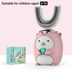 Smart 360 Degress U Sonic Kids Electric Silicone Automatic Ultrasonic – dailyfashionlove Ultrasonic Toothbrush, Kids Electric Toothbrush, Acoustic Wave, Magnetic Levitation, Gifts For Pet Lovers, Accessories Store, Cartoon Styles, Abs, 3 Kids