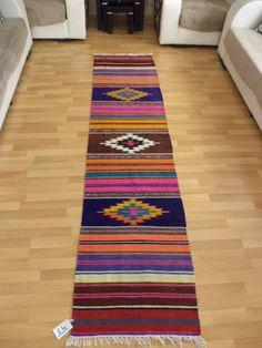 "Turkish Kilim Rug Runner, Anatolian Kelim Rug RUNNER, Handwoven Vintage Kilim RUNNER, 2""X8,7"" Feet Modern Kilim Runner Rug Natural Wool"