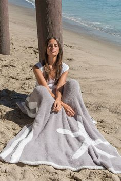 Barefoot Dreams® - Worlds softest and most luxurious hand knitted baby blankets, children's apparel, chic lounge wear for adults and accessories for the home. Barefoot Dreams® is luxury! Dove Grey, Gray, Barefoot Dreams, Where The Heart Is, Starfish, Cover Up, Blanket, Celebrities, Chill
