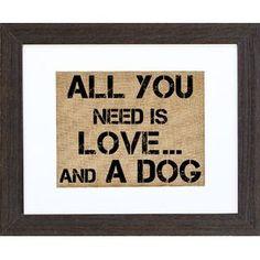 Love & A Dog Wall Decor