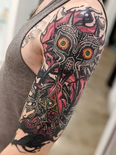 Ramón on - Alex Rodway> The Legend of Zelda: Majora& Mask You are in the rig - Hai Tattoos, Nerdy Tattoos, Anime Tattoos, Body Art Tattoos, Sleeve Tattoos, Tattoos For Guys, Cool Tattoos, Black Tattoos, Tribal Tattoos