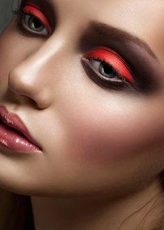 cool #red #makeup