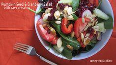 Pumpkin Seed & Cranberry Salad @Meg's Vegucation