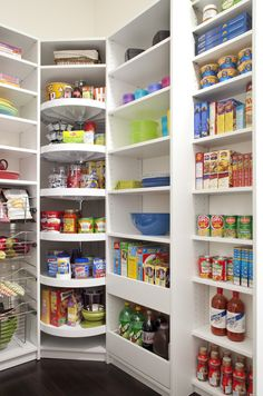 Impressive lazy susans in Kitchen Traditional with Pantry Organization next to Corner Pantry alongside Ikea Pull-out Pantry and Cheap Closet Organization Ideas                                                                                                                                                     More
