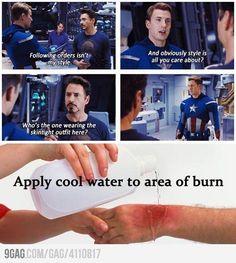 Tony Stark BUUUUURNNNN !!!