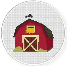 FREE for April 15th 2014 Only - Red Barn Cross Stitch Pattern