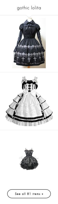 """""""gothic lolita"""" by jcseagreen ❤ liked on Polyvore featuring dresses, knot dress, white day dress, double layer dress, white dress, layered dress, skull corset, gothic lolita dress, gothic corsets and goth corset dress"""