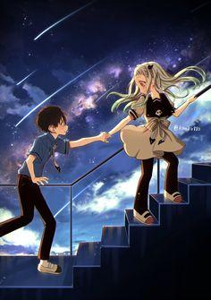 Manga Anime, Anime Couples Manga, Cute Anime Couples, Otaku Anime, Toilet Boys, Anime Reccomendations, My Ghost, Wattpad, Cute Drawings