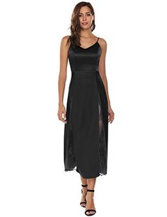 ALOFA Womens Lace Patchwork Back Hidden Zipper Padded Flared Dress Black  Small     Amazon most trusted e-retailer  SatinDresses 2d625f473