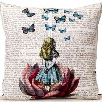 Alice in Wonderland Pillow by Magali Pili