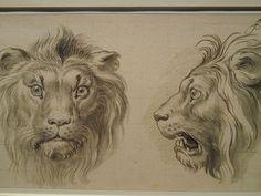 Tête de lion charles le brun