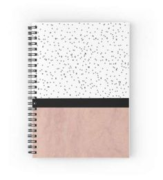 'Pink marble and dots' Spiral Notebook by by-jwp Pink marble and dots spiral notebook by arrbyjwp on redbubble Diy Notebook Cover For School, School Book Covers, Notebook Cover Design, Notebook Covers, Journal Covers, School Notebooks, Cute Notebooks, Spiral Notebooks, Stationery Items