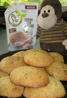 Recette Sucre Roux & Stevia : Cookies aux pépites de chocolat - Recettes avec Sucre Roux & Stevia: nos idées recettes - > Ingrédients 70 g de beurre 60 g de chocolat noir 60 g de Sucre Roux & Stevia* 1 oeuf 1/2 c. à café de vanille liquide 100 g de farine 1/2 c. à café de levure...