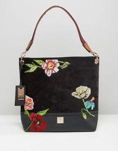 a6da54c2480e River Island Embroidered Slouch Bag