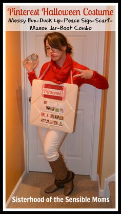 If you need a costume, who you gonna call? Pinterest! We just can't guarantee it won't be an awkward Halloween costume.