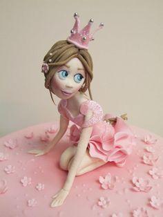 Emma Jayne Cake Design added a new photo — with Debora Petkova and 2 others. Cake Topper Tutorial, Fondant Tutorial, Cake Toppers, Cupcakes, Cupcake Cakes, Fondant Girl, Fondant People, 3rd Birthday Cakes, Ballerina Cakes