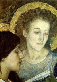 Two saints by Edgar Maxence
