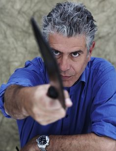 Anthony Bourdain - no reservations!!! The only show I watch anymore and it's last year is now showing. Sad.