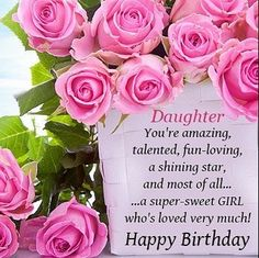 Image Result For Happy Birthday Woman With Purple And Pink Roses