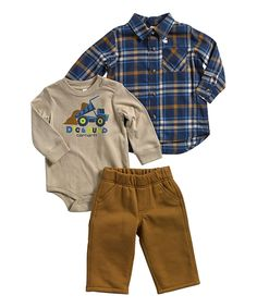 Look at this Brown Bodysuit Set - Infant on #zulily today!