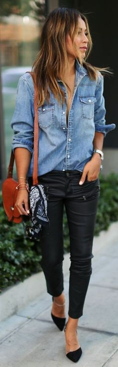 love the casual shirt with dressier jeans/shoes