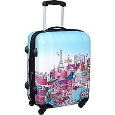 "IT Luggage Paris City 20"" Hardside Spinner - Paris City - via eBags.com!"