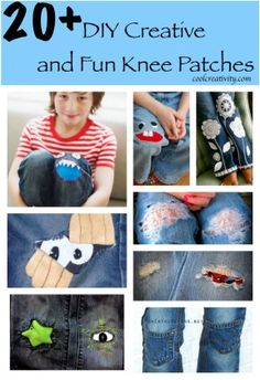 20+ DIY Creative and Fun Knee Patches