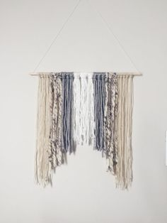 Hand-Knotted Wall Hanging by KikiAndPom on Etsy