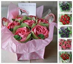 Bouquet de cupcakes para regalar a mamá el Día De La Madre. #PostreDiaDeLaMadre