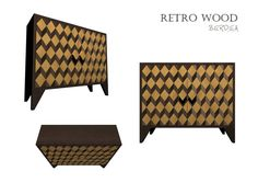 Komoda RETRO WOOD Credenza, Magazine Rack, Furniture Design, Cabinet, Retro, Storage, Wood, Creative, Home Decor