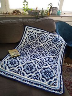 This would make a fabulous rug! Crochet Afgans, Crochet Quilt, Tapestry Crochet, Afghan Crochet Patterns, Crochet Stitches, Free Crochet, Knit Crochet, Knitting Patterns, Knitting Projects