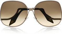 63b159b514 victoria-beckham Oversized Squareframe Metal Sunglasses - Lyst Tortoise  Shell Sunglasses