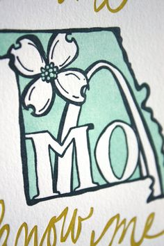 Missouri State Series Letterpress Print by 1canoe2 on Etsy, $15.00
