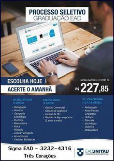 Folha do Sul - Blog do Paulão no ar desde 15/4/2012: TRÊS CORAÇÕES:SIGMA - UNITAU EAD