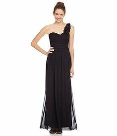 Black One Shoulder Prom Dress Dillard's