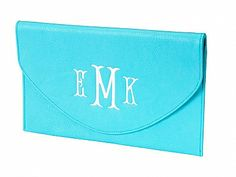 Monogrammed Clutch Purse www.southerncharmembroidery.com