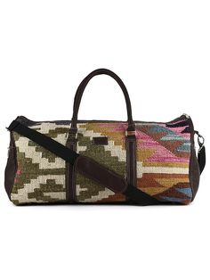 Green Off White Kilim Boho Travel Bag Travel Bags 0618efb1de285