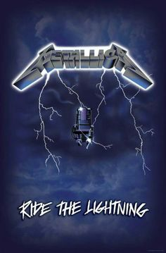 Metallica: Ride the Lightning Metallica Cover, Metallica Tattoo, Metallica Art, Heavy Metal Music, Heavy Metal Bands, Image Rock, Rock Y Metal, Punk Poster, Ride The Lightning