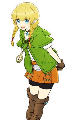thepianofairy:  A warm up doodle of Linkle I guess-
