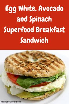 #midlifeboulevard featured my yummy breakfast sandwich. Get the recipe: http://midlifeboulevard.com/egg-white-avocado-spinach-superfood-breakfast-sandwich/