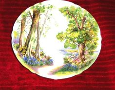 Vtg Shelley England Decorative Plate Woodland Forest Scene Porcelain Snack Dish on eBay!