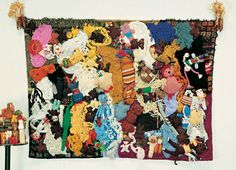 I'm so moved by the work of Mike Kelley! This fiber piece has thrifted stuffed animals incorporated in it.