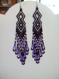 Native American Beaded Purple and Black by BeadedCreationsetc, $20.00