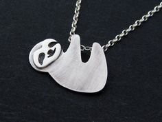 Hey, I found this really awesome Etsy listing at https://www.etsy.com/listing/196224313/silver-sloth-necklace-baby-three-toed
