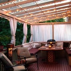 Curtains for the deck!