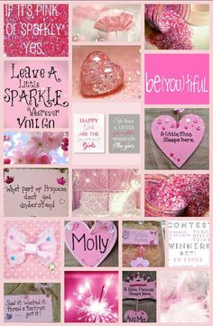 Pink sparly,glittery every little girls dream