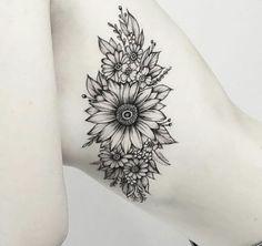 Best flowers drawing sunflower tattoo ideas Ideas - My most beautiful tattoo list Wolf Tattoos, Finger Tattoos, Body Art Tattoos, New Tattoos, Sleeve Tattoos, Circle Tattoos, Fish Tattoos, Galaxy Tattoos, Belly Tattoos