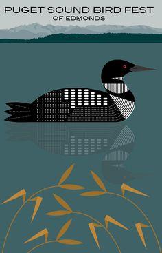 Loon Tattoo, Christmas Arts And Crafts, Charley Harper, Organic Art, Bird Quilt, Geometric Background, Wildlife Art, Graphic Design Art, Bird Art