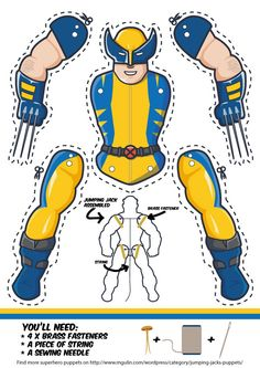 Want to have your own Wolverine paper puppet? Just download the template, use the link below. After that, all you have to do is print, cut and assemble!